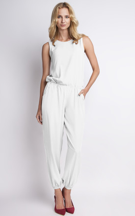 Minimal jumpsuit in white by 4FASHION Lanti 5732465965