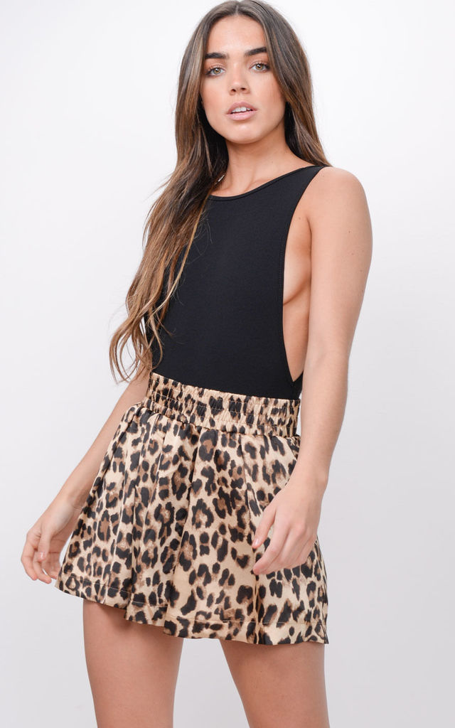 Leopard Print High Waisted Shorts by LILY LULU FASHION