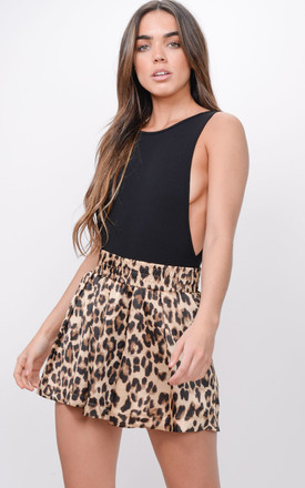 Leopard Animal Print High Waisted Shorts by LILY LULU FASHION Product photo