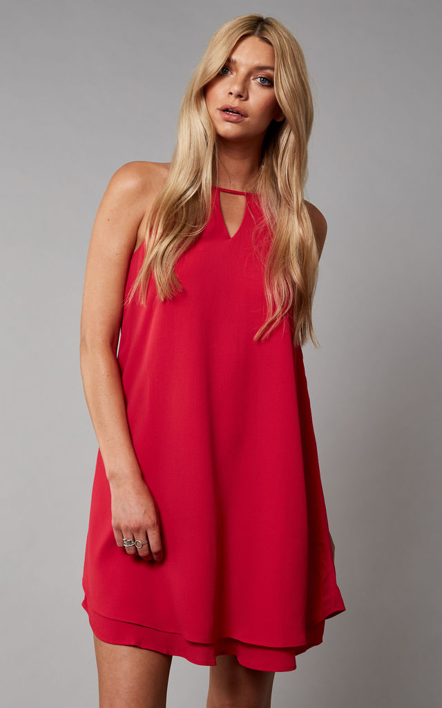 Magenta Layered Mini Dress by ONLY