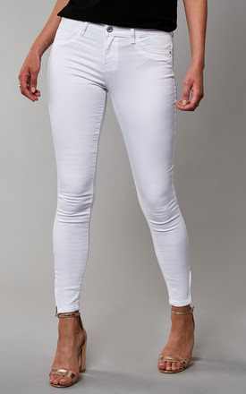White Mid Waist Skinny Jeans by ONLY Product photo