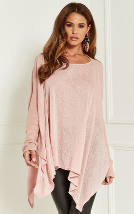 a8bc2f008625b Dusty Pink Oversized Batwing Top