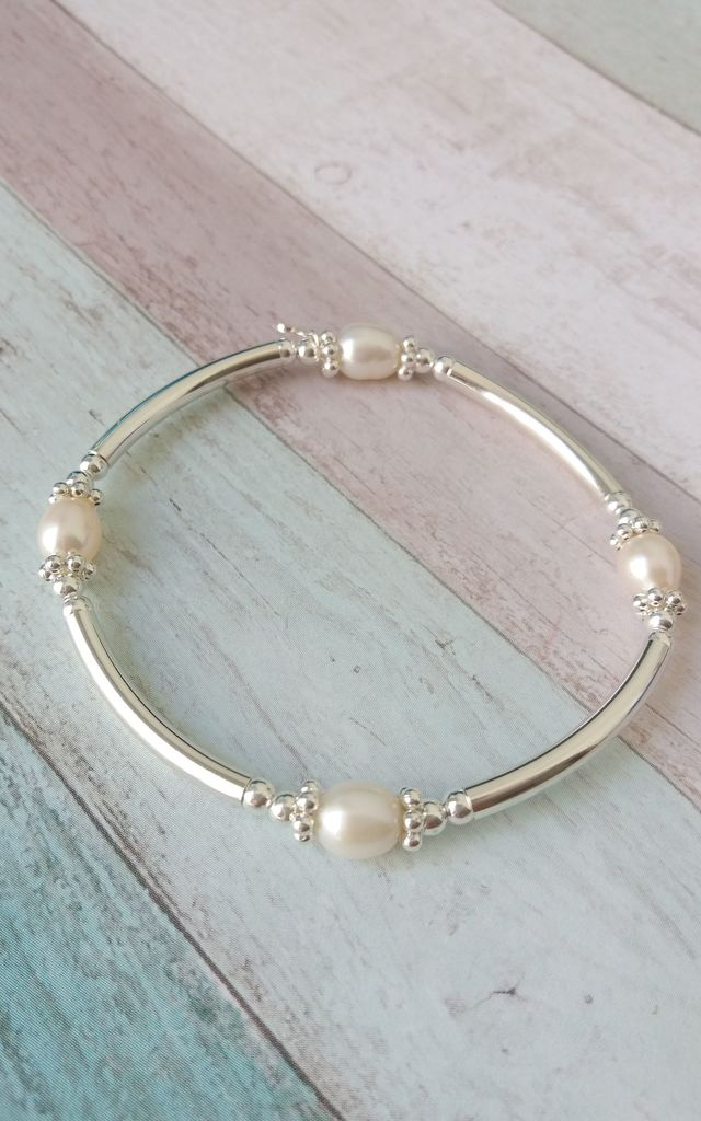 Freshwater Pearl Bracelet & Ring Set by Kelly England Handmade Jewellery
