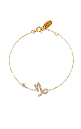 Capricorn Zodiac Bracelet Gold by Latelita