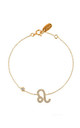Leo Zodiac Bracelet Gold by Latelita