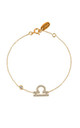 Libra Zodiac Bracelet Gold by Latelita