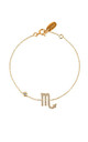 Scorpio Zodiac Bracelet Gold by Latelita