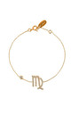 Virgo Zodiac Bracelet Gold by Latelita