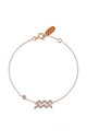 Rose Gold Bracelet with Aquarius Zodiac Charm by Latelita