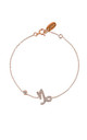 Capricorn Zodiac Bracelet Rose gold by Latelita