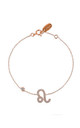 Rose Gold Bracelet with Leo Zodiac Charm by Latelita