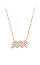 Rose Gold Chain Necklace with Aquarius Zodiac pendant by Latelita London