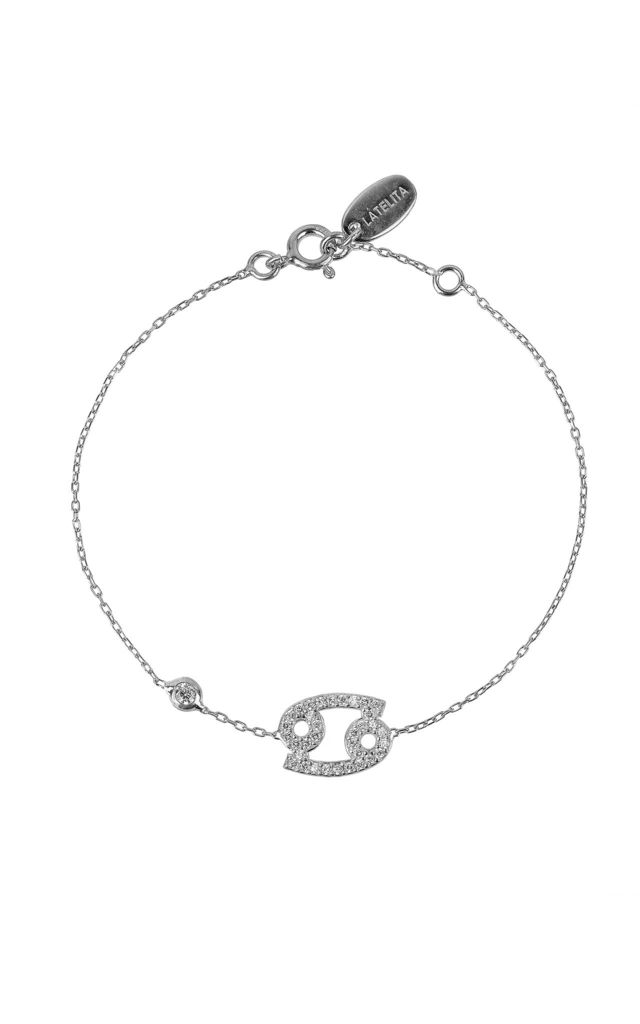 Cancer Zodiac Bracelet Silver by Latelita