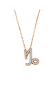 Capricorn Zodiac Necklace Rose gold by Latelita London