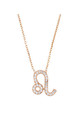 Leo Zodiac Necklace Rose gold by Latelita London