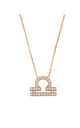 Libra Zodiac Necklace Rose gold by Latelita London