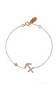 Sagittarius Zodiac bracelet Rose gold by Latelita