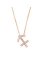 Sagittarius Zodiac Necklace Rose gold by Latelita London