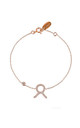 Taurus Zodiac Bracelet Rose gold by Latelita