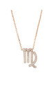 Virgo Zodiac Necklace Rose gold by Latelita London