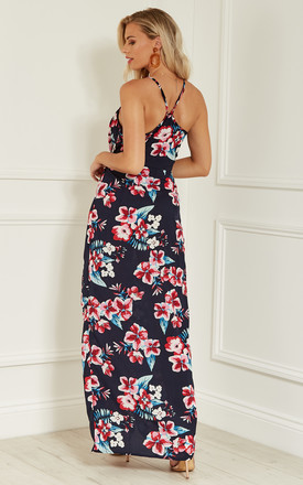 Navy Floral Maxi Dress by Lilah Rose