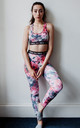Pink and grey camouflage Leggings yoga pants comfy and ethical by PRIYA