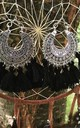 Black tassel earrings by Lovelock jewels