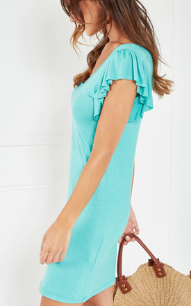 Sea Knit Tank Dress With Mini Ruffle Sleeve by The Vanity Room