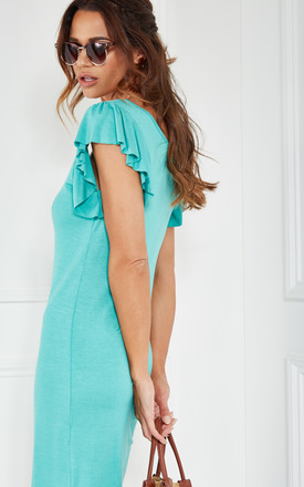 Sea Knit Tank Dress With Mini Ruffle Sleeve by The Vanity Room Product photo