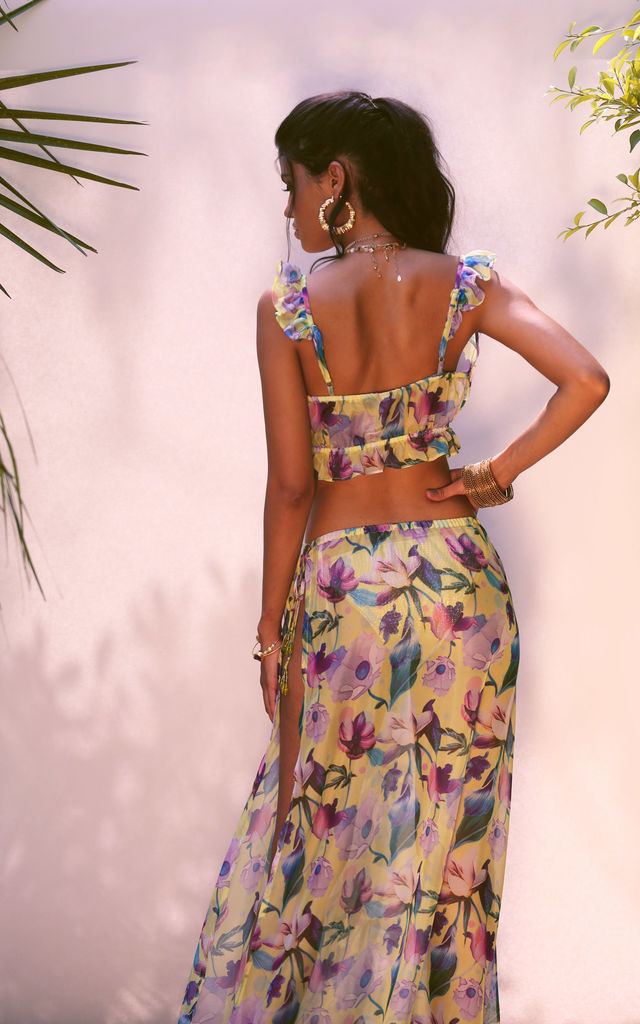Floral print beach skirt by Ambi The Brand