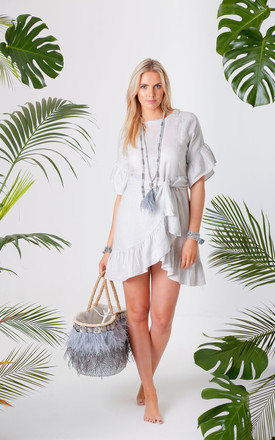 Jagger Grey Wrap Tie Dress by Pranella Product photo
