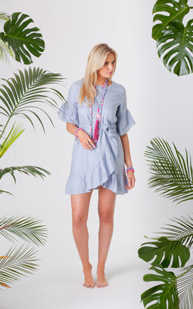 Jagger Chambray Jagger Wrap Tie Dress by Pranella Product photo