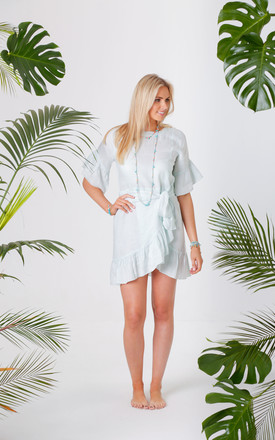 Jagger Mint Wrap Tie Dress by Pranella Product photo