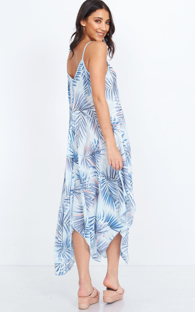 0b85b782145 KATLIN – Asymmetric Tropical Print Maxi Dress by Blue Vanilla