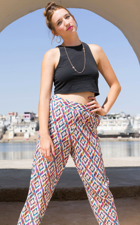 Angela Pink Geometric Hip-Hop Pants by Krissyfied Boutique
