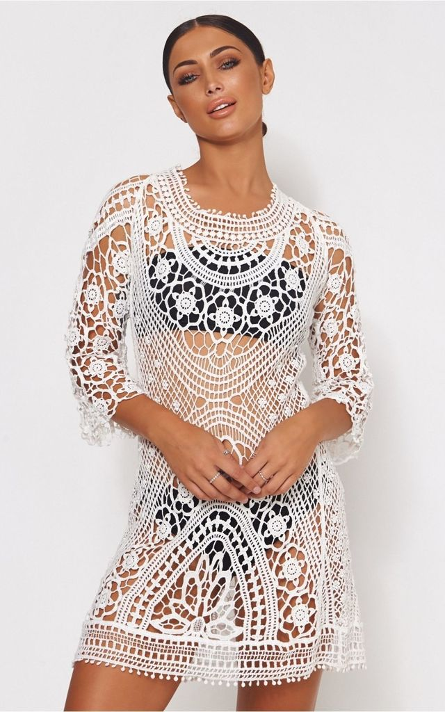 dd0e6a2e60a5f6 Giana White Crochet Beach Cover Up | The Fashion Bible | SilkFred