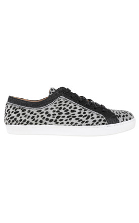 Animal print trainers with black leather detail by House of Spring