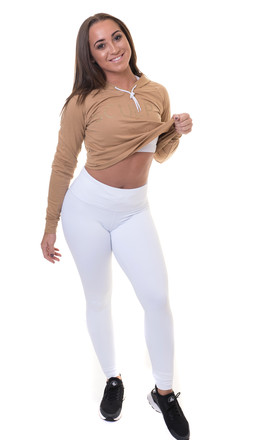 Cropped Hoodie Bronze by Sculpt Activewear Product photo