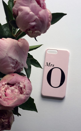 Dusty Pink Mrs monogram phone case by Rianna Phillips
