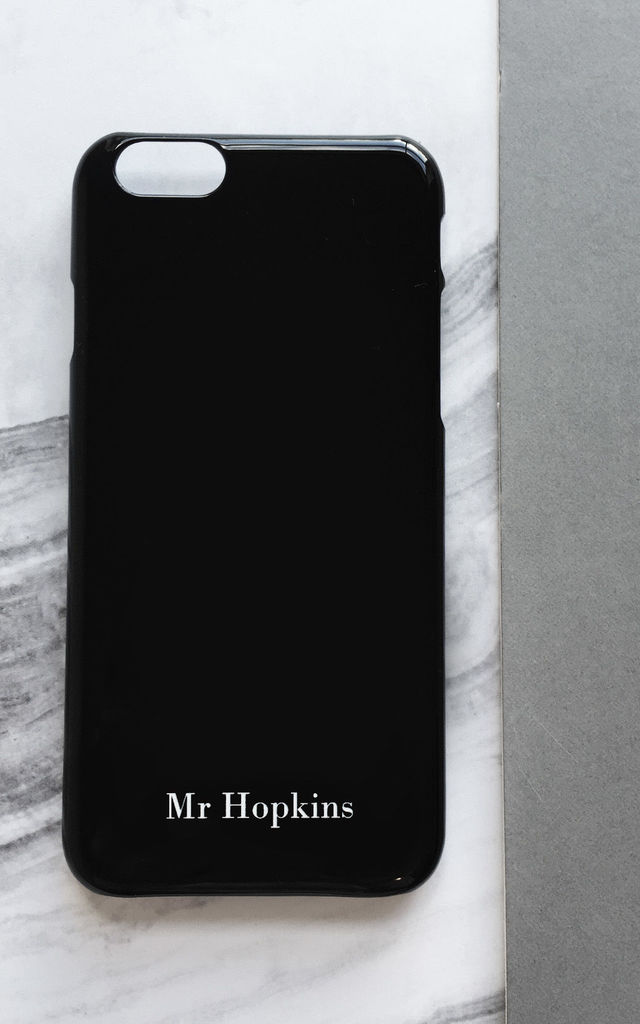 Black Initial Phone Cover by Rianna Phillips