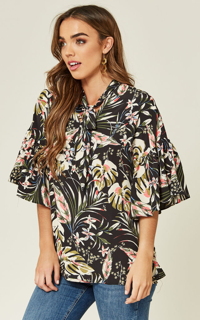 Floral Kimono Top by ANGELEYE