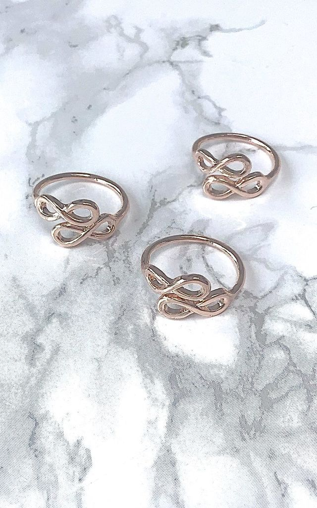 Rose Gold Infinity Adjustable Ring by Kate Canning Jewellery