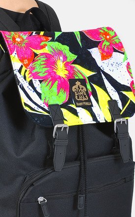 Neon tropical Panel Laptop Backpack fluorescent by The Left Bank