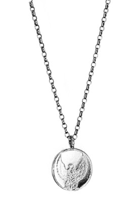 Eagel Coin Necklace (Freedom Pendant, Silver) by Rebekah Ann Jewellery