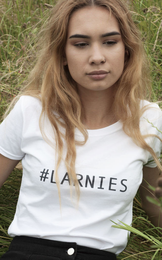 Hashtag Larnies White T-shirt by Larnies