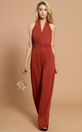 The Calla Jumpsuit in Marsala by Gorgeous Couture
