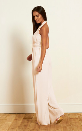 The Calla Halterneck Jumpsuit in Ivory by Gorgeous Couture