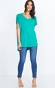 ELLICE – Round Neck Oversized Green Top by Blue Vanilla