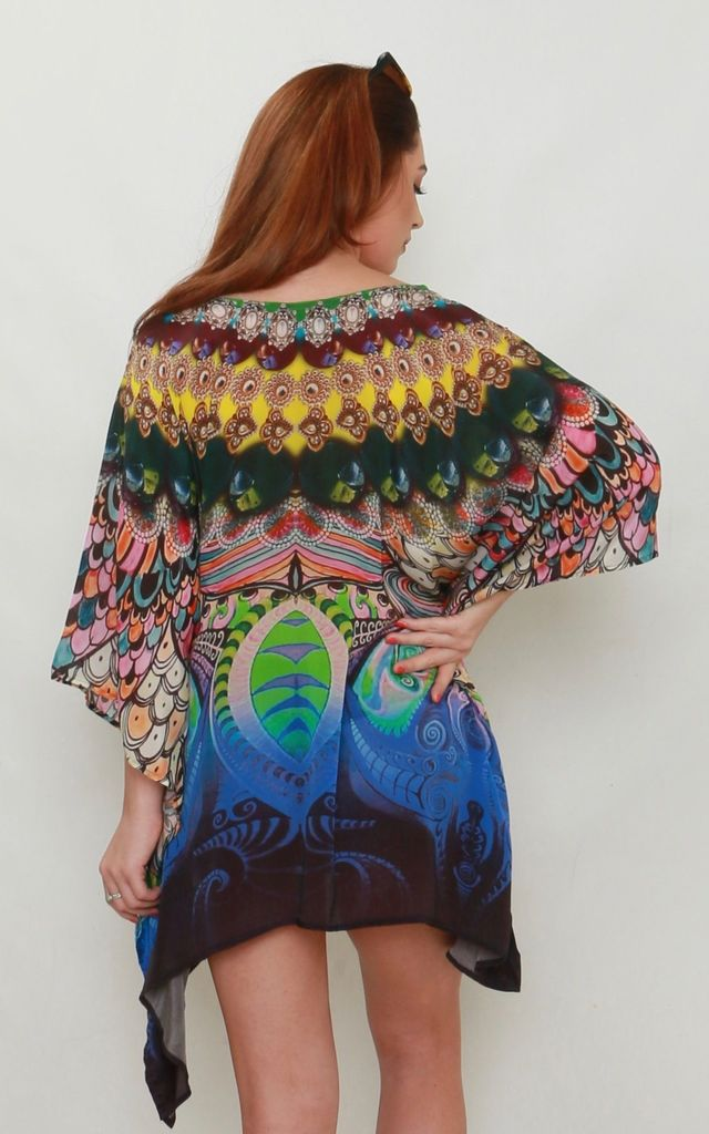 Zanzibar Mini Printed Kaftan by Kitten Beachwear