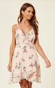 Floral Wrap Dress in Pink by Zibi London